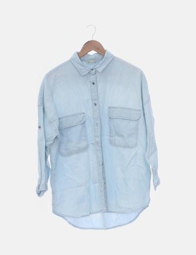 Camisa denim efecto desgastado