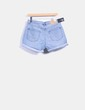 Shorts denim azul con dobladillo Cheap Monday