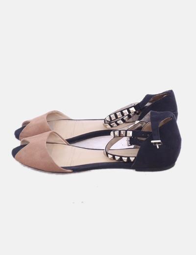 Sandalia negra combinada con tobillera