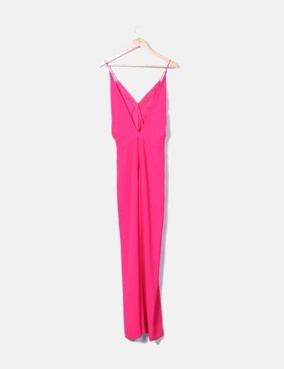 Zara Macacão rosa com decote nas costas (desconto de 75%) - Micolet d20b19632c
