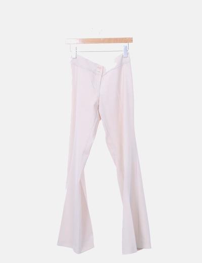 Pantalón beige con rayas