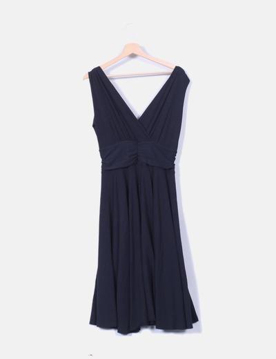 Vestido negro escote V Yoel