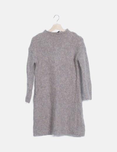 Vestido mini lana manga larga