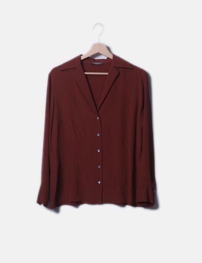 Camisa marrón fluida