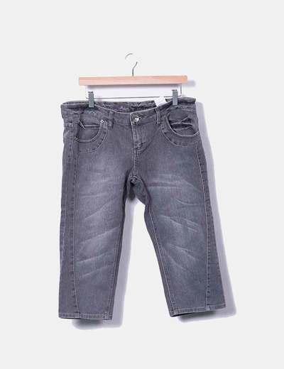 Jeans denim pirata gris Adolfo Dominguez