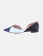 Zapato tricolor satinado negro y azul Zara