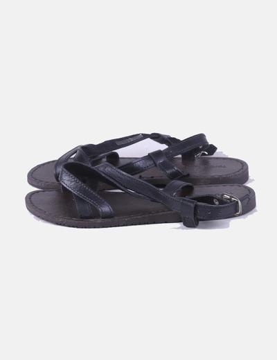 Sandalia negra tiras Torbolina's