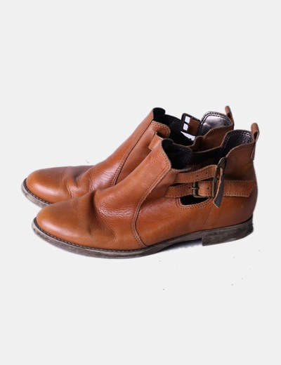 Bottines marron vers le top Made in Italy
