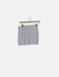 Falda mini gris claro basic Shana