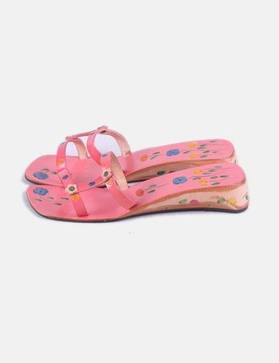 Sandalia estampada multicolor