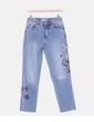 Pantalón denim con bordado floral Denim Co.
