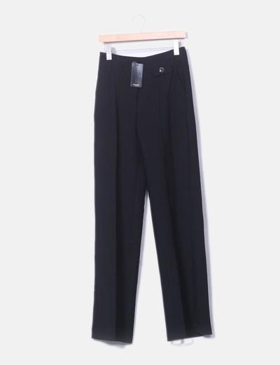 Pantalon noir costume palazzo Mango