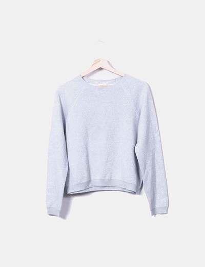 Maglione grigio lavorato a maglia Bershka