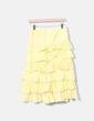 Vestido volantes guipur amarillo NoName