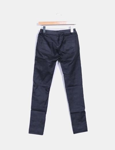 Pantalon negro efecto cuero
