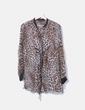 Blusa animal print semitransparente Zara