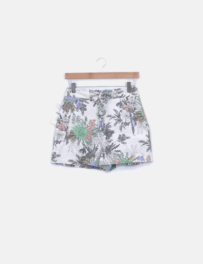 Short crudo estampado