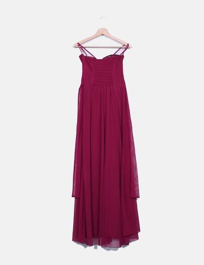 NV30 Robe violette maxi avec soirée avec strass (réduction 83%) - Micolet 66f0107aae0