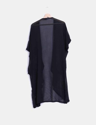 Kimono negro combinado