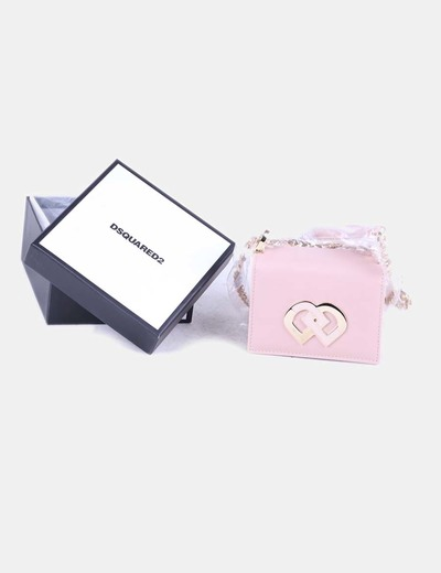 Dsquared2 bolso mini rosa con cadena dorada descuento 68 for Ariadne artiles medidas