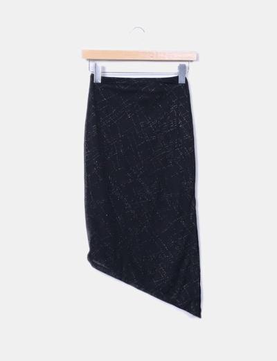 Black midi glitter skirt Pimkie