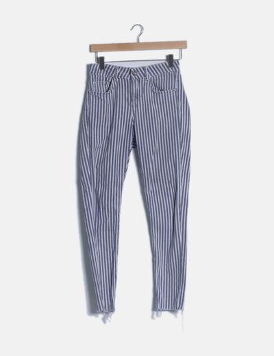 Jeans denim rayas azules