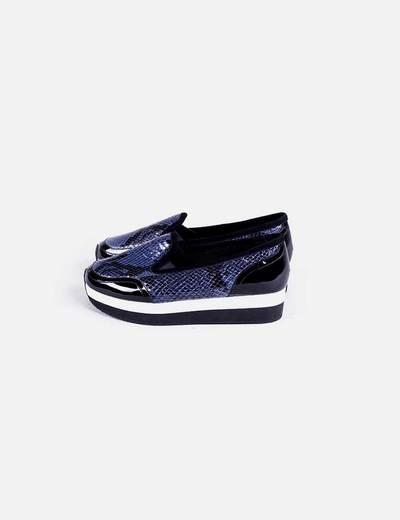 Zapato plataforma combinado serpiente Sonia Rykiel
