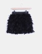Falda negra de plumas TRENDY THINGS