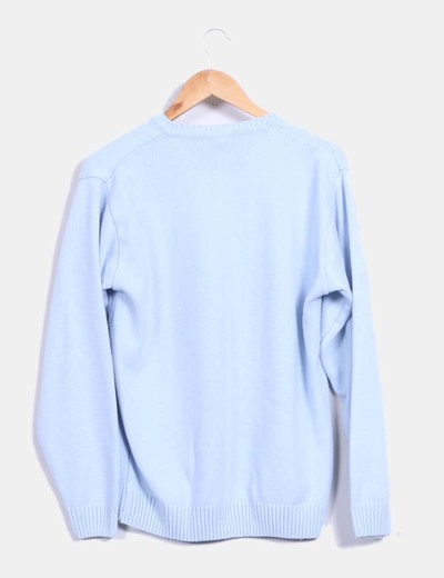 df19a68e58ff Polo Ralph Lauren Pull bleu ciel oversize (réduction 78%) - Micolet