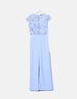 Maxi vestido azul combinado lentejuelas Pau´la