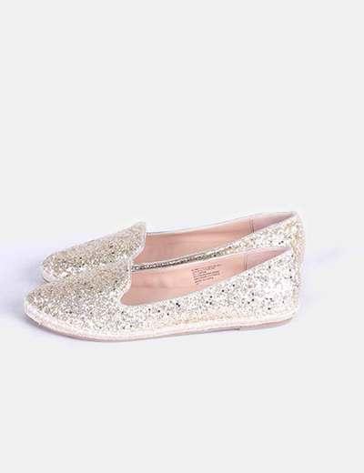 Slippers glitter dorado  Steve Madden