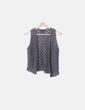Chaleco tricot gris con paillettes Massimo Dutti