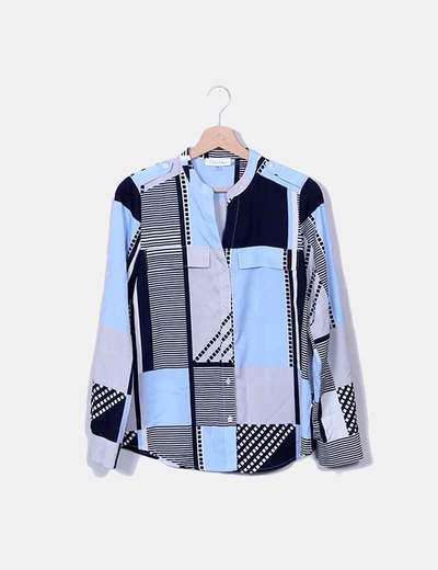 Camisa tonos azules Calvin Klein