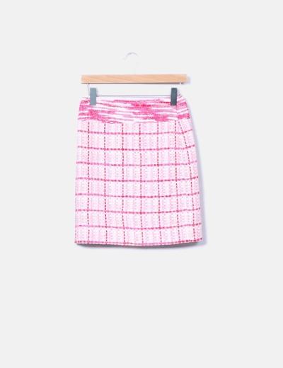 Conjunto de top y falda texturizada