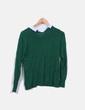 Jersey verde con cuellos camiseros Tintoretto