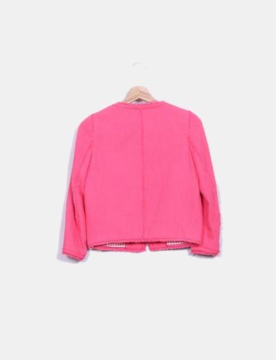 Chanelita rosa texturizada