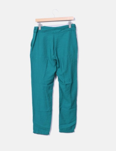 Pantalon baggy verde