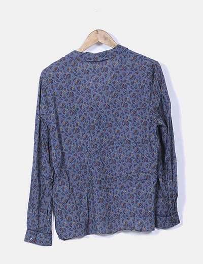 Blusa azul petroleo estampado cachemira