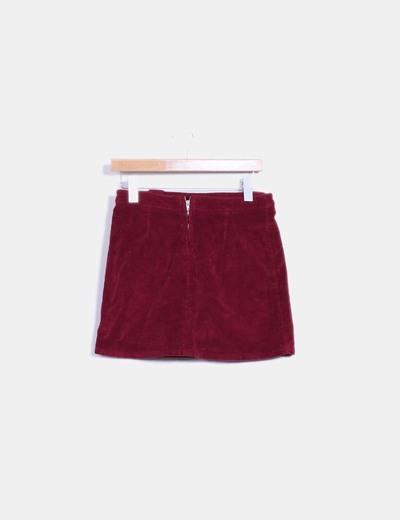 minorista online 1bea9 0159f Mini falda burdeos de pana