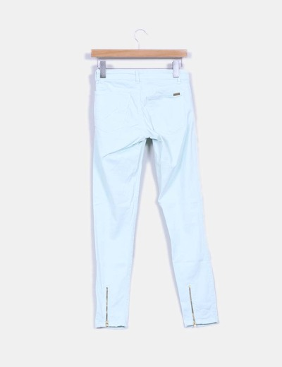 Pantalon turquesa con cremalleras