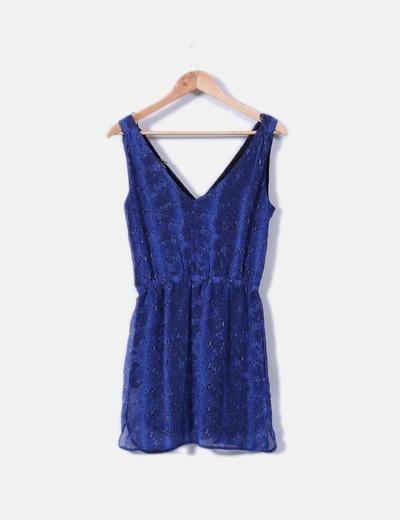 Vestido azul animal print