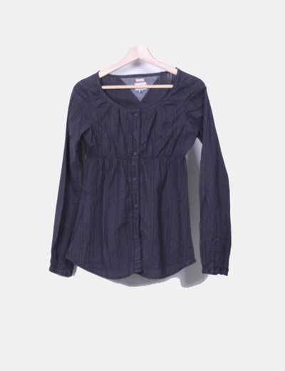 Camisa de rayas negra Hilfiger Denim