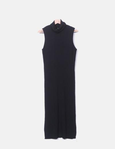 Maxi vestido negro tricot