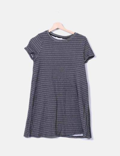 Vestido midi tricot bicolor Zara