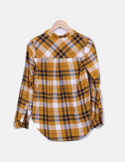 Camisa mostaza de cuadros
