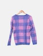 Jersey lana cuadros Bershka
