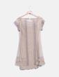 Vestido malla combinado con crochet color champagne Stradivarius