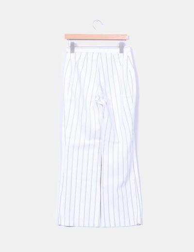 Conjunto de pantalon y blusa de rayas
