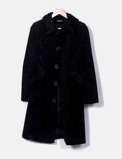 Manteau noir texturé Sinéquanone