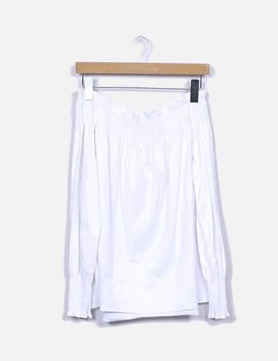 Blusa blanca estampada Zara